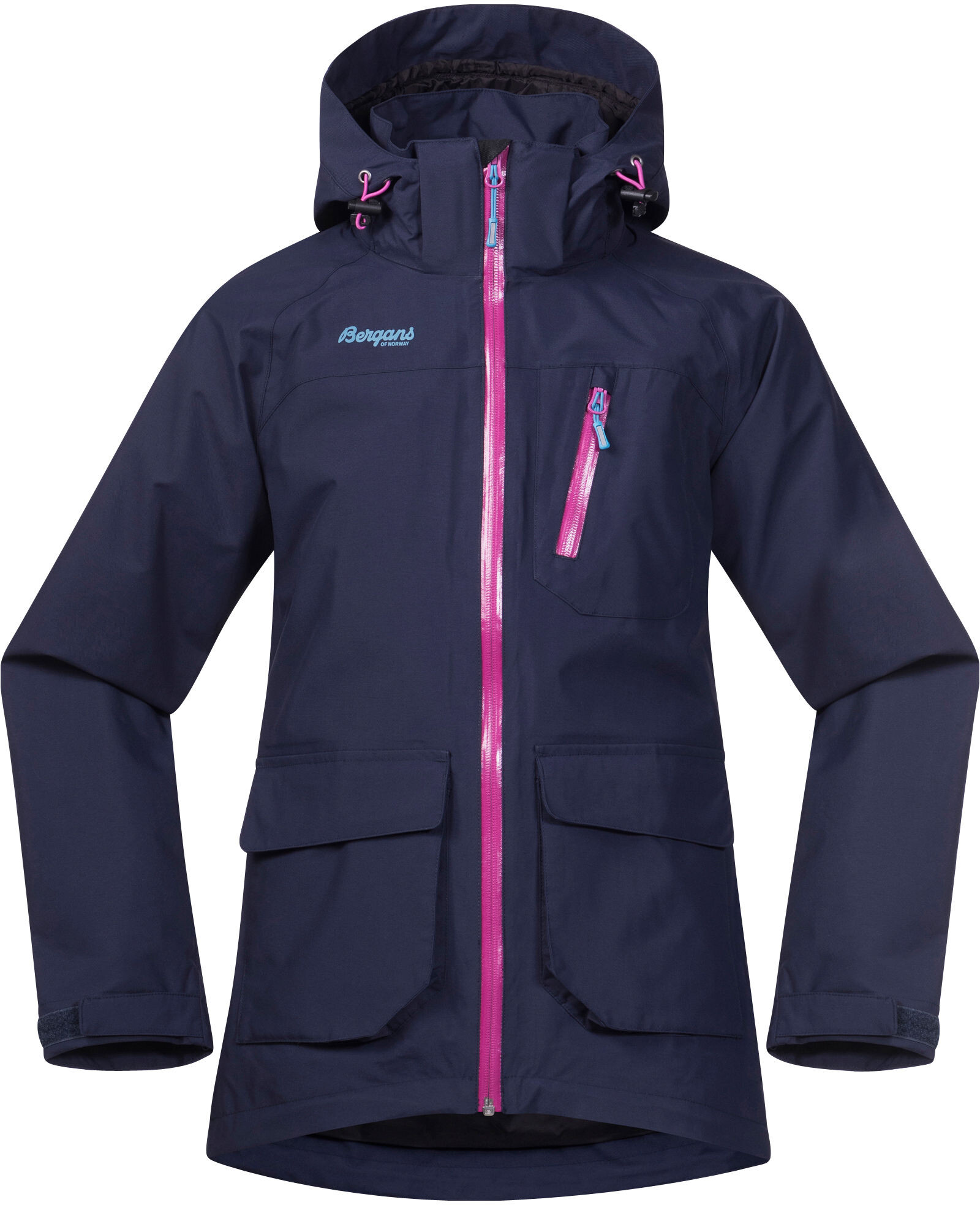 d1444637 Bergans Folven Jacket Barn navy/pink rose/glacier - addnature.com